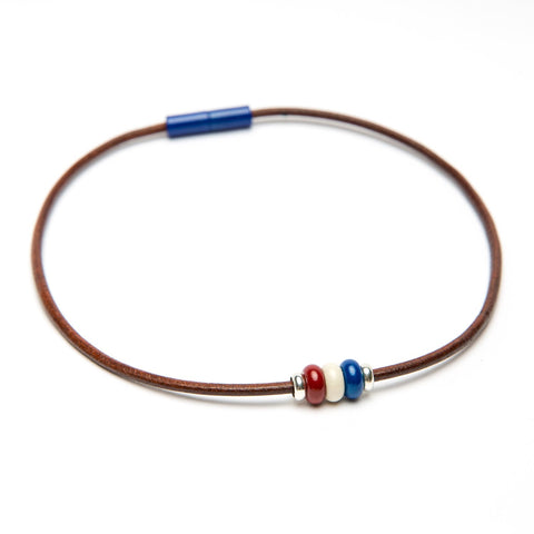 Triple Bead Leather Necklace Fundraiser