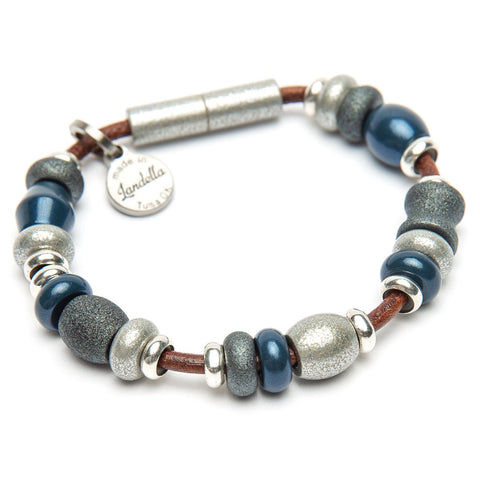 Multi Color Deluxe Bead Leather Bracelet | Color of the Month