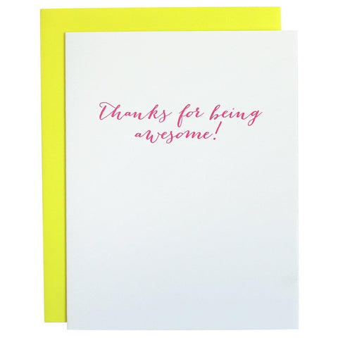 THANKS FOR BEING AWESOME GREETING CARD