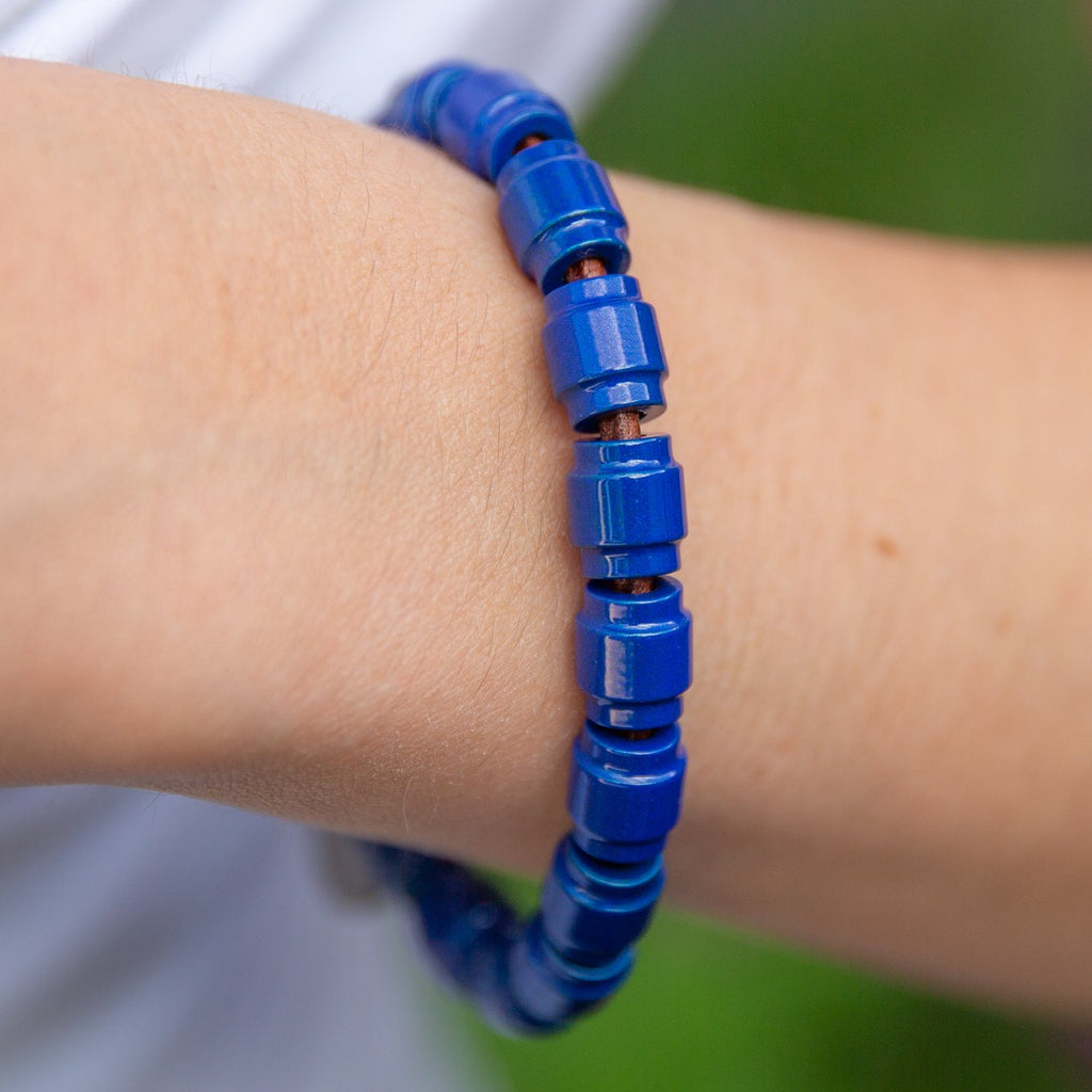 Full Barrel Bead Leather Bracelet | Last Chance Sale