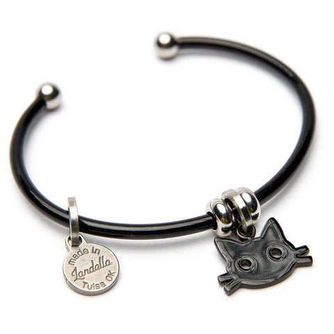Bruno the Cat Halloween Charm Cuff Bracelet