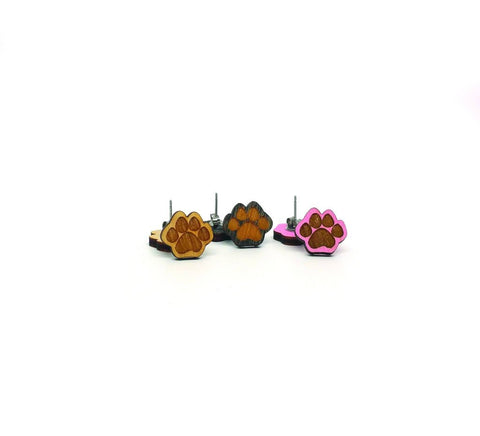 Paw Earrings (natural)