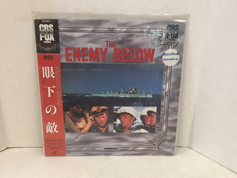 Enemy Below Japanese Import w/ OBI & Laserdisc Sample sticker