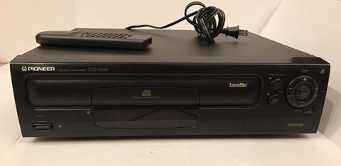 Pioneer CLD-S104 Single Side Laserdisc Player with Original Remote CU-CLD106 (DEC 1994)