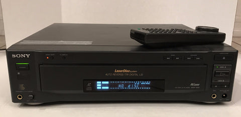 Sony MDP-600 Dual Side Flip Laserdisc Player with Original Remote RMT-M19A (October 1994)