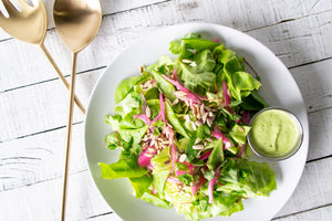 Butter Lettuce Salad with Snap Peas and Green Goddess