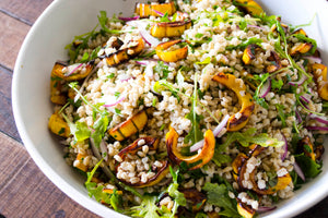 Roasted Delicata Squash and Farro