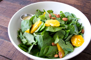 Spinach Salad with Navel Oranges and Mint
