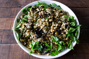 White Bean Salad with Castelvetrano Olive Tapenade
