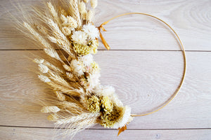 "10"" Dried Flower Wreath - Flowers By Carra"