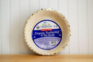 "Wholly Wholesome Organic Traditional 9"" Pie Shell 14oz"