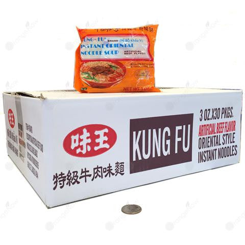 Beef Flavor Noodle Soup (3oz x Pack of 30) 特級牛肉味麵 85gx30包/箱