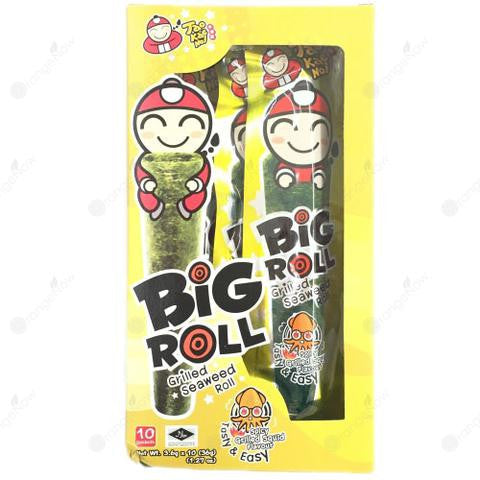 Big Roll Grilled Seaweed Roll Spicy Grilled Squid Sauce 10 packets 小老板辣味魷魚口味海苔 10包入
