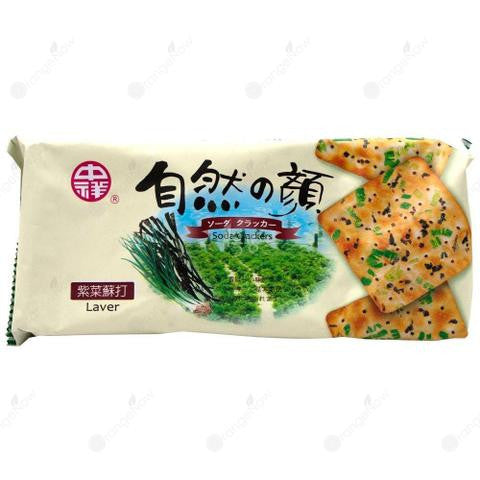 Vegetable Soda Cracker (Seaweed) Laver 中祥自然之顏紫菜蘇打 140g/包