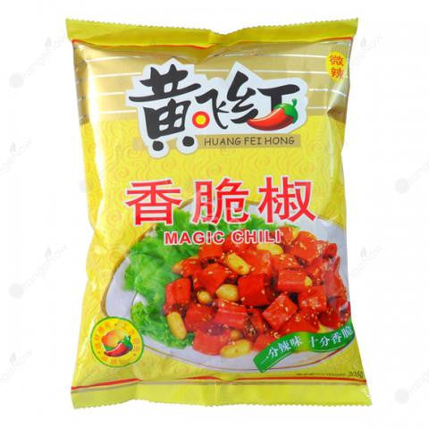 Huang Fei Hong Dried Cripsy Chili (Large) 黃飛紅香椒脆 (大包) 308g