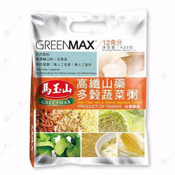 Greenmax High Fiber Yam and Grains Porridge 12-pack/bag 馬玉山高纖山藥多穀蔬菜粥 35gx12入