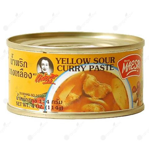 Maesri Yellow Sour Curry Paste 美食黃酸咖喱醬