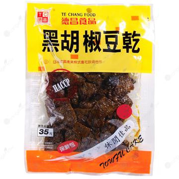 Black Pepper Dried Bean Curd 德昌黑胡椒豆乾 115g/包