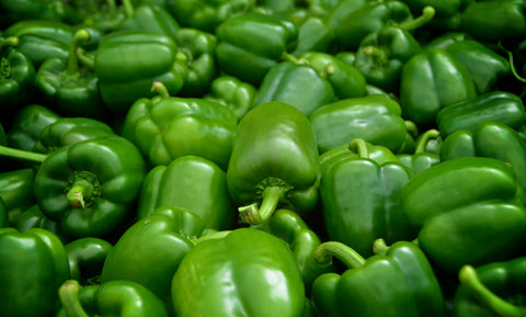 Green Peppers 青椒 ~20lbs (wholesale by the case)