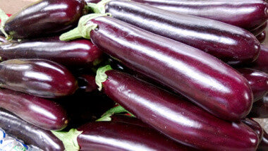 Eggplant, Chinese 中茄 30lbs (wholesale by the case)