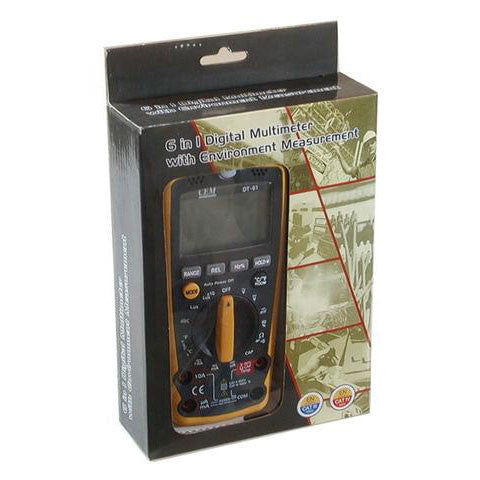 CEM DT-61 6-in-1 Industrial Thermometer Light Humidity Sound Meter NCV Multimeter