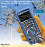 CEM DT-9989 True RMS Industrial Multimeter Oscilloscope with Color LCD Display