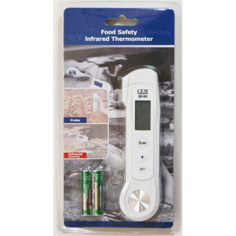 CEM IR-95 2-in-1 Professional LCD Food Safety IR and Probe Thermometer -40 to 446 deg F NEW