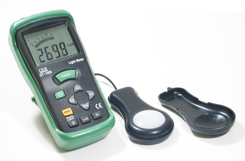 CEM DT-1308 Deluxe 400K Lux Digital 4-digit LCD Light Meter Lux-fc foot-candle Luxmeter