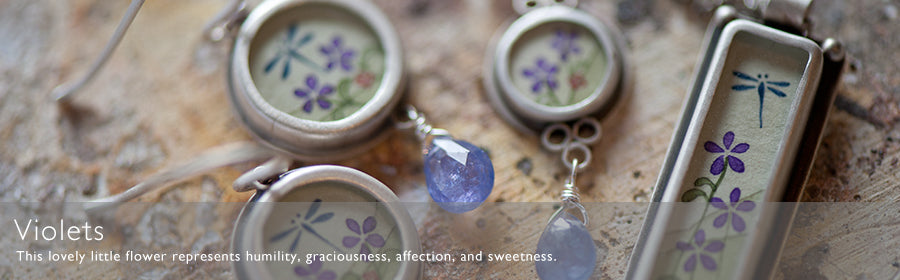 Violets Hand Painted Jewelry | Ananda Khalsa Jewelry