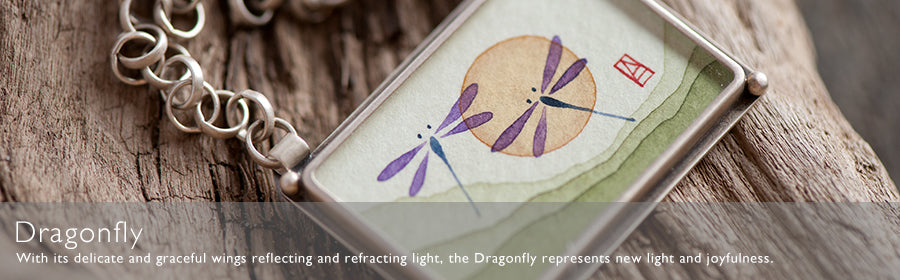 Dragonfly Hand Painted Jewelry | Ananda Khalsa Jewelry