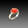 Carnelian Ring with Scalloped Band