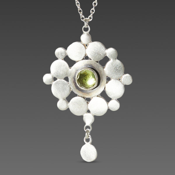 Sterling & Peridot Mandala Necklace