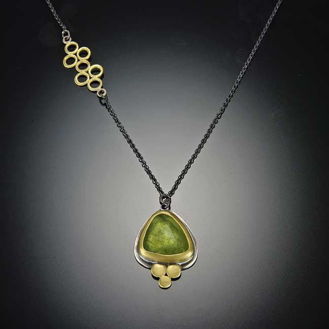 Cut green sapphire necklace rose cut green sapphire necklace aloadofball Image collections