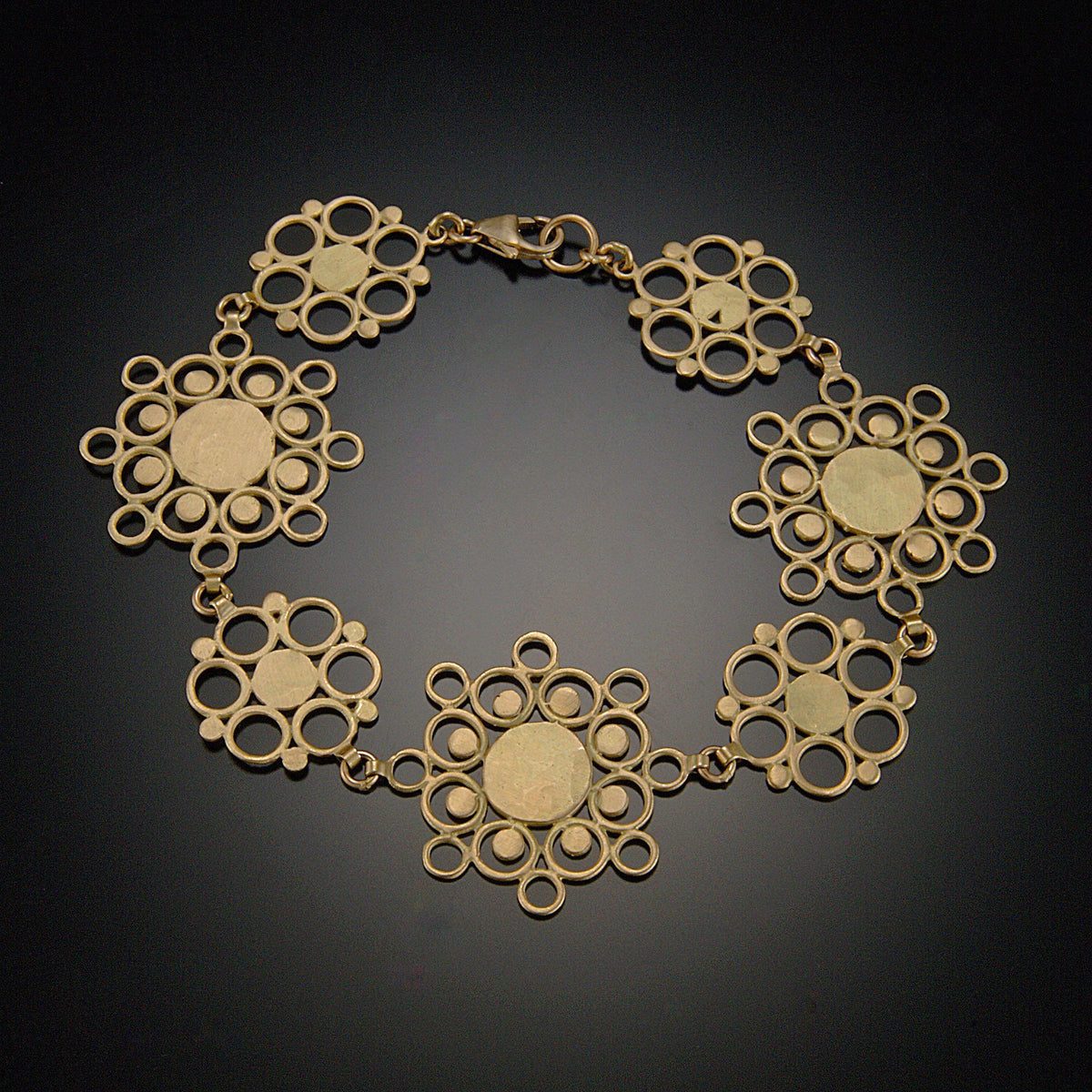 crop shop gold mandala sun bracelet