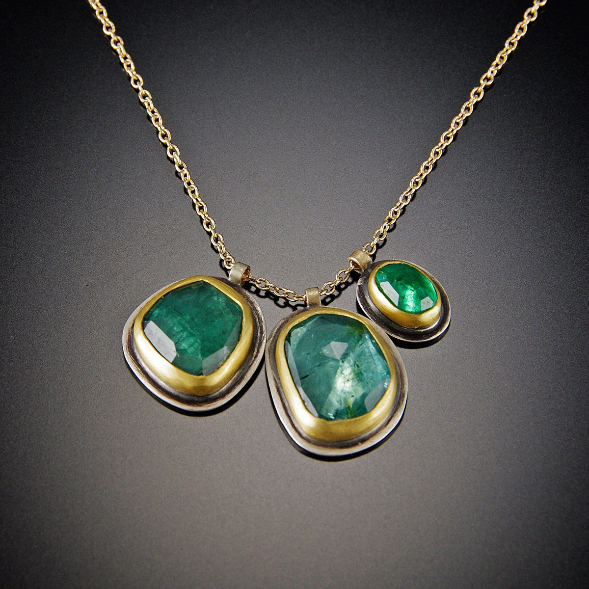 197f9795e843d Two Tourmaline and Emerald Necklace