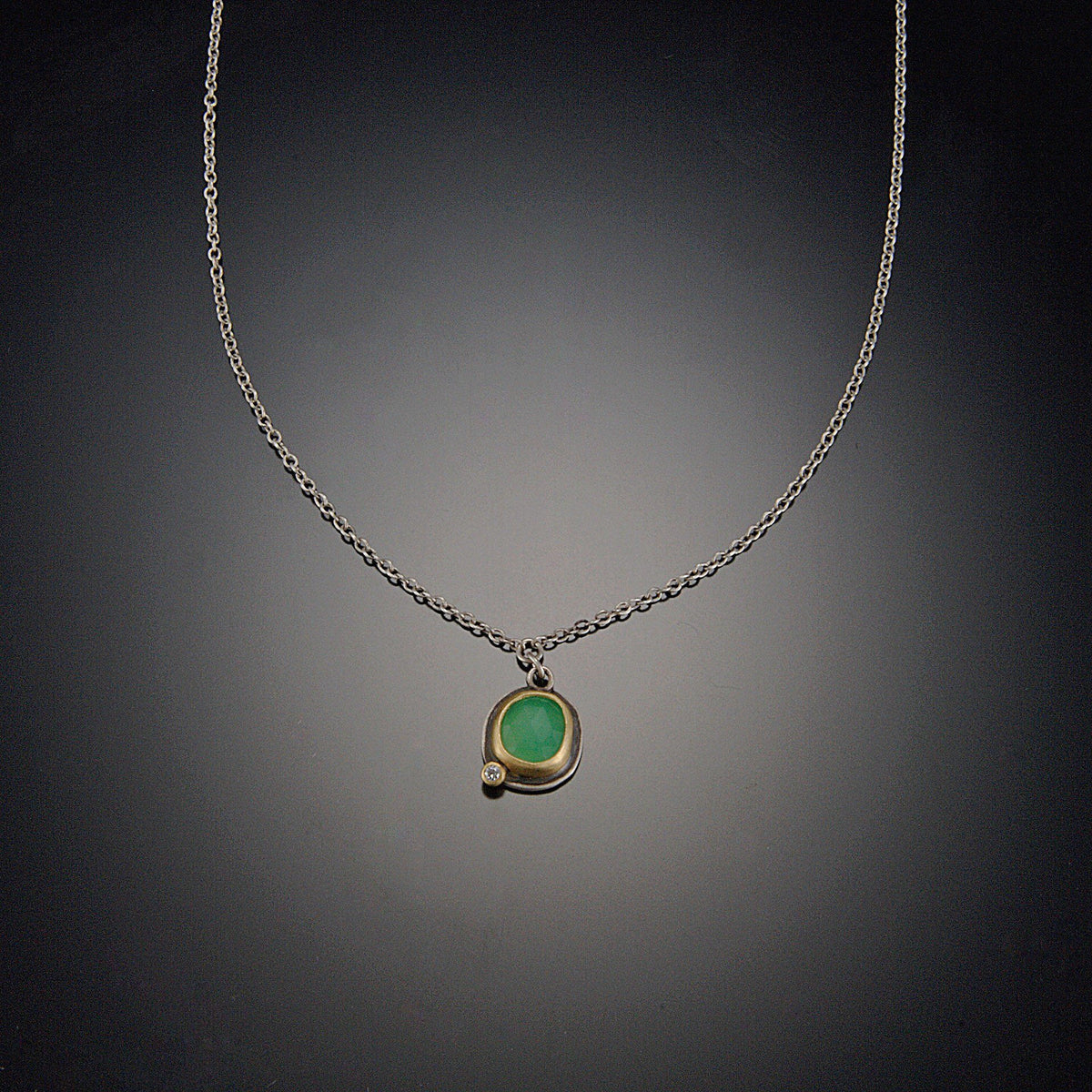 fob products checkmate necklace inlay chrysoprase