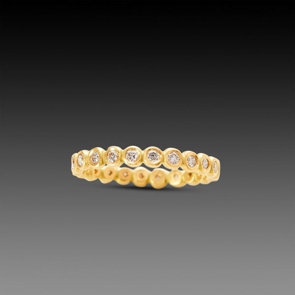 Hammered Dot Diamond Eternity Band