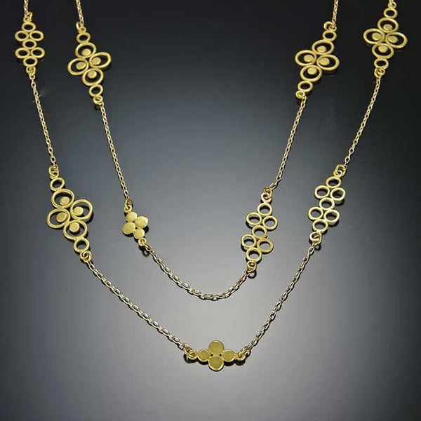 Gold Filigree Chain Necklace