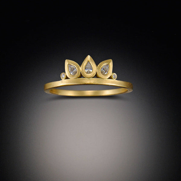 Lotus Petal Diamond Band