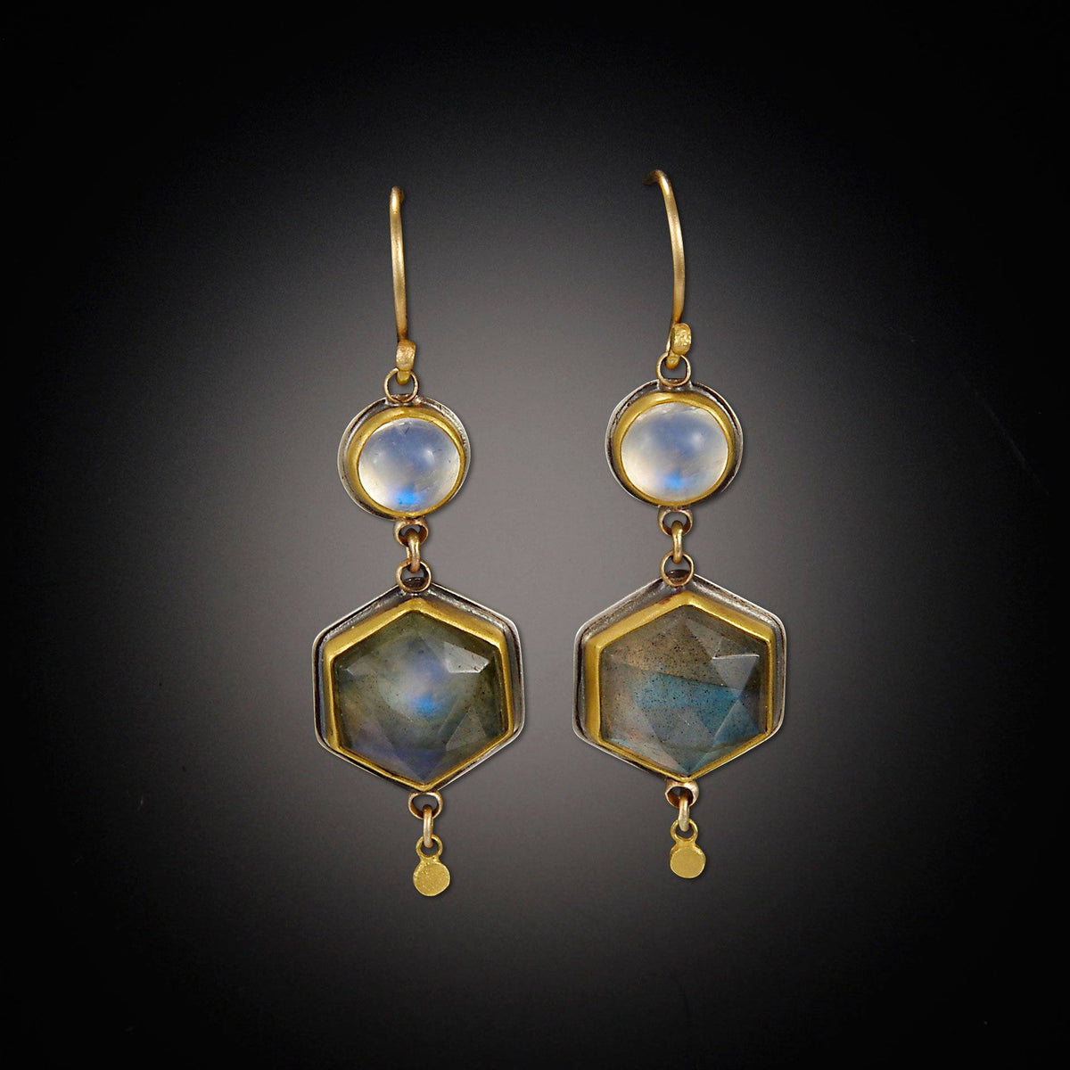 New Labradorite and Moonstone Earrings SM99
