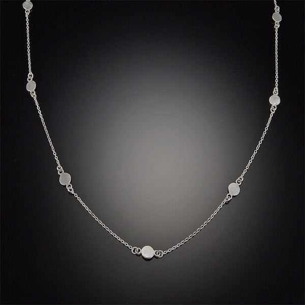 Silver Dot Chain Necklace