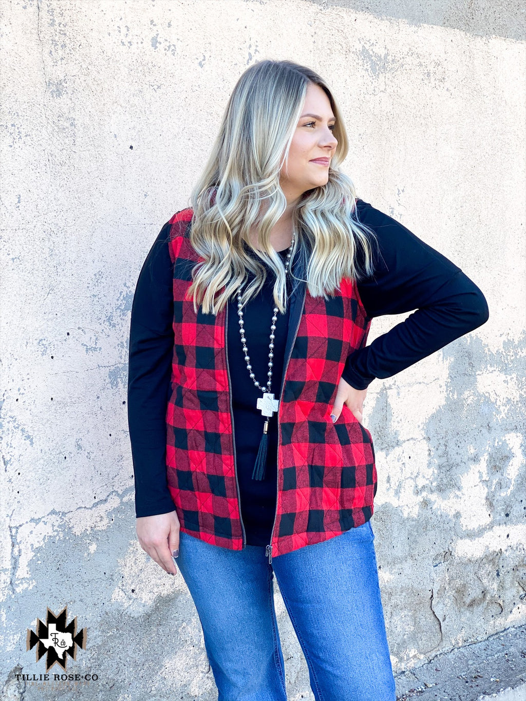 The December Vest: Buffalo Plaid - The Tillie Rose Boutique