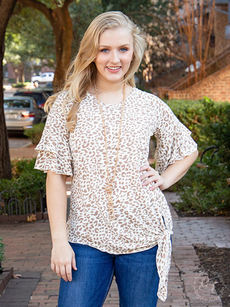 Spring to It Leopard Top