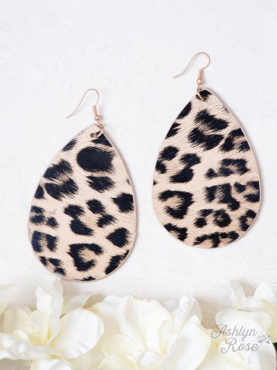 Lovely Leopard Teardrop Earrings