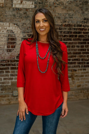 Game Day 3/4 Sleeve Top - The Tillie Rose Boutique