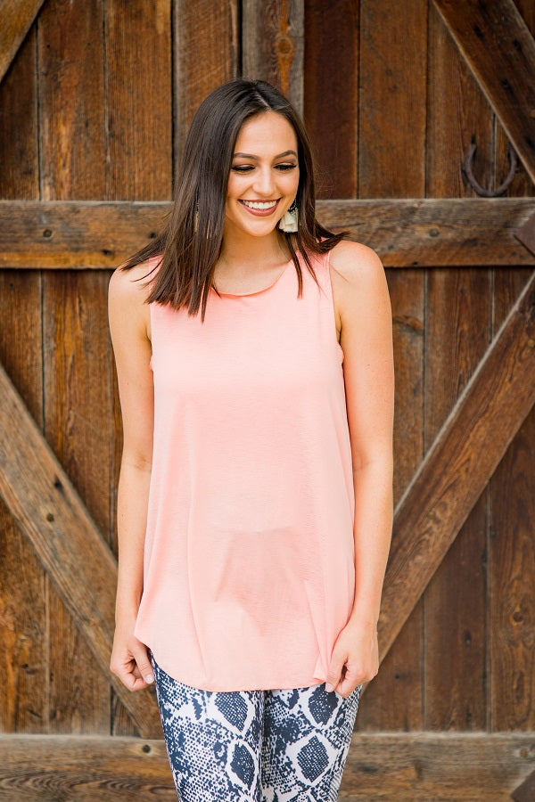 Salmon Summer Tank - The Tillie Rose Boutique