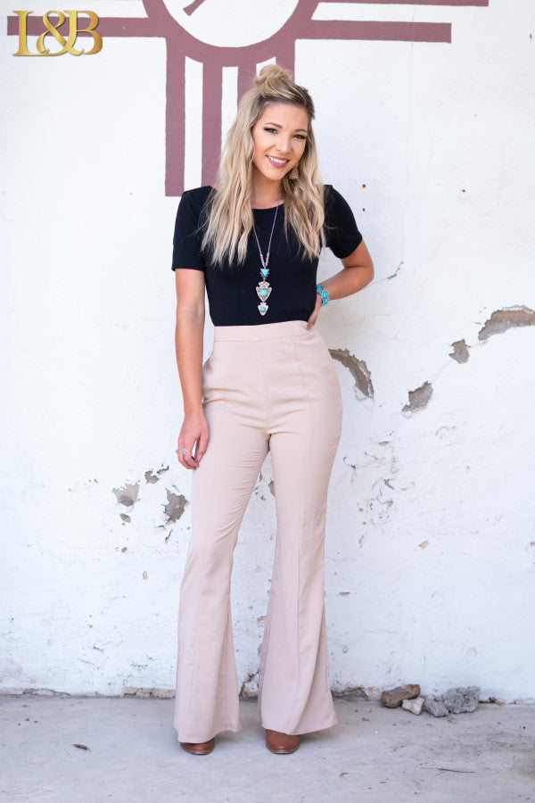 Cappuccino Flare Trousers - The Tillie Rose Boutique