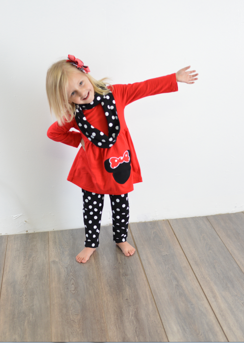 Minnie Mouse Polka Dot Set - The Tillie Rose Boutique