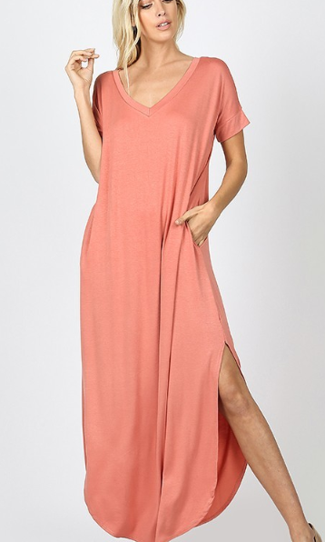 Dusty Rose Sweep Dress - The Tillie Rose Boutique