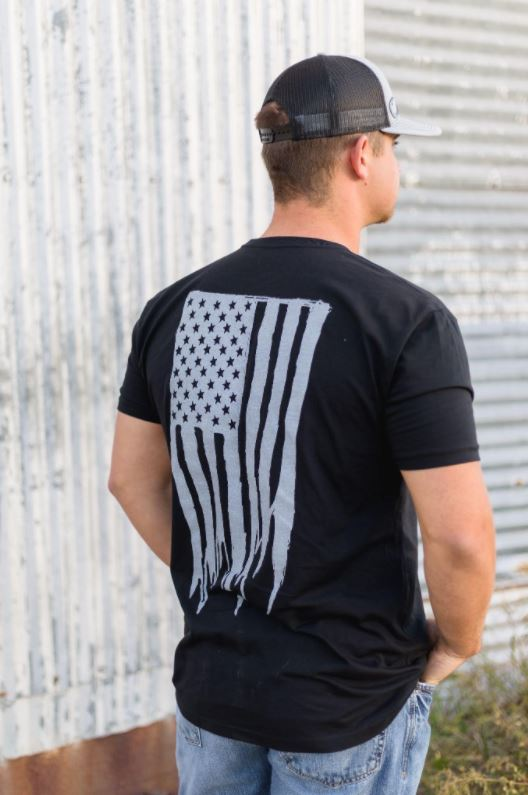 Tested Flag Tee- Black Out - The Tillie Rose Boutique